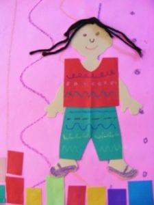 Kindergarten Selfportrait Girl With Multicultural Die Cut