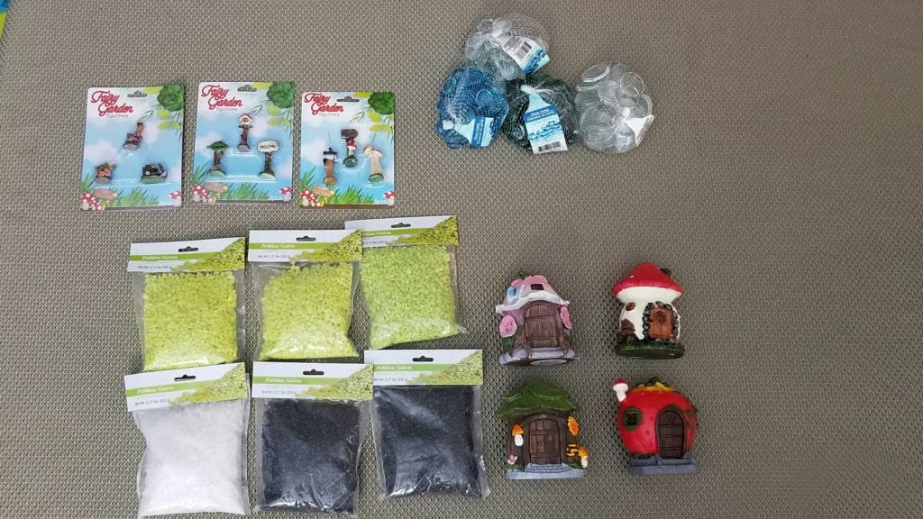 Dollar Tree fairy garden accessories and fairy garden houses
