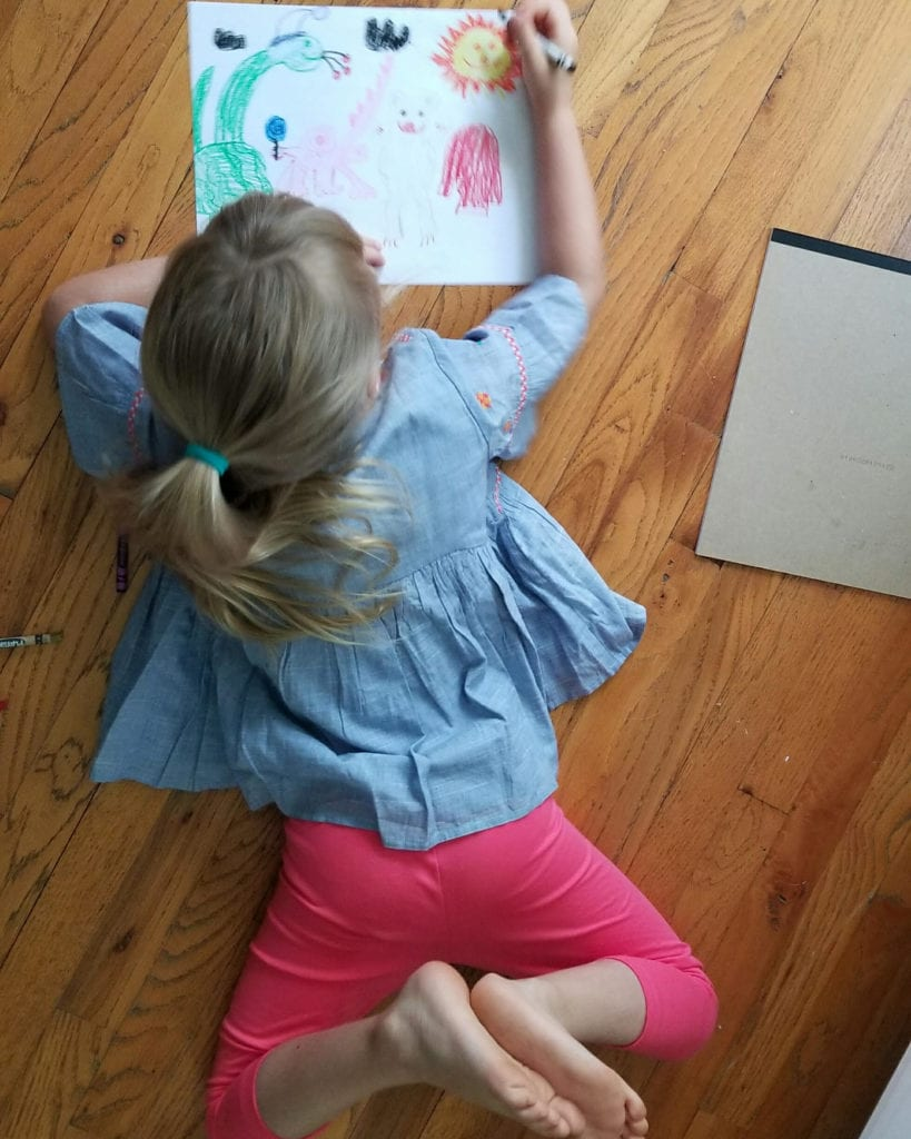 The Day the Crayons Quit Art Lesson Girl Coloring