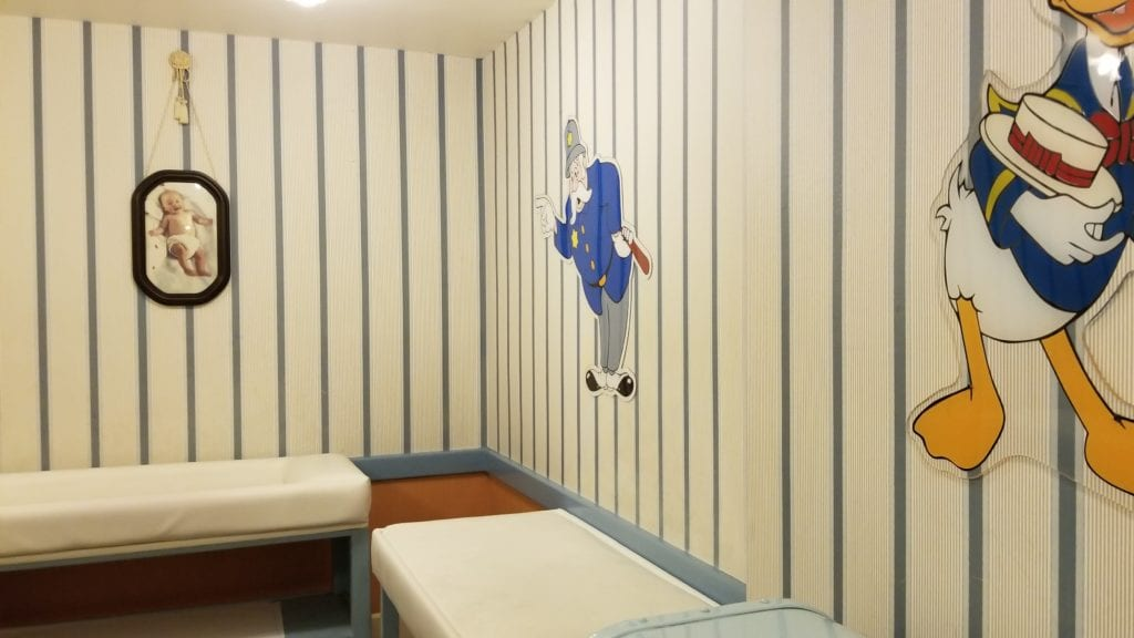Baby Changing area in the Disney Baby Room at Walt Disney World Florida