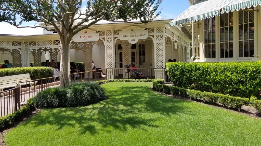 Walt Disney World Baby Care Center entrance at Magic Kingdom
