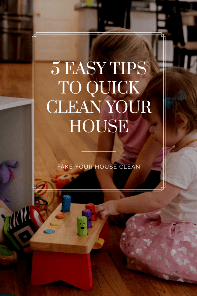 5 Easy Tips to Quick Clean Your House on The ArtsyFartzy Experience blog