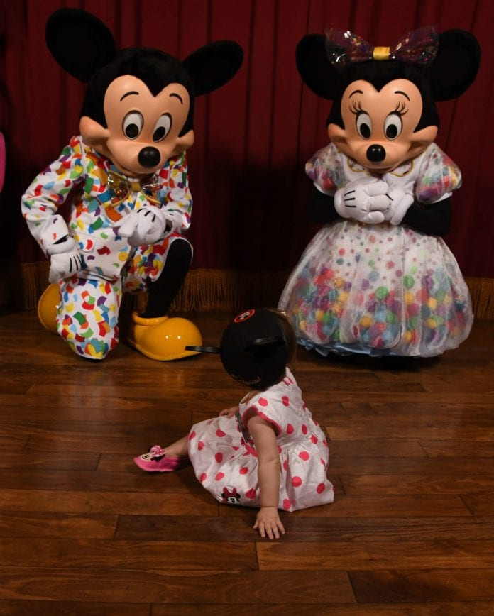 Mickey Mouse and Minnie Mouse Birthday Celebration at Magic Kingdom Disney World With a 1 Year Old