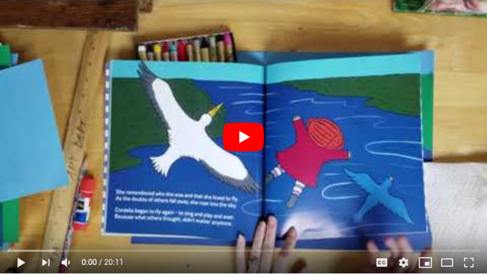 Oil crayon Cordelia Uaborne Books elementary art lesson video