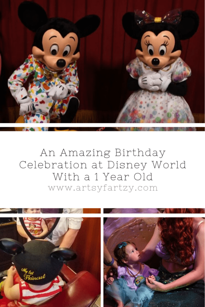 An Amazing Birthday Celebration at Disney World with a 1 Year Old on www.artsyfartzy.com