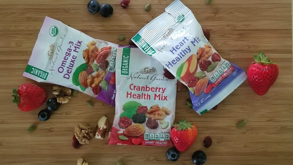 helthy breakfast idea for kids Nature's Garden Organic Trail Mix Snack Packs